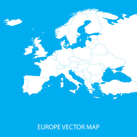 coastlines: Europe Vector Map