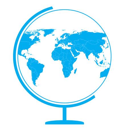 글로브 아이콘 - 세계지도