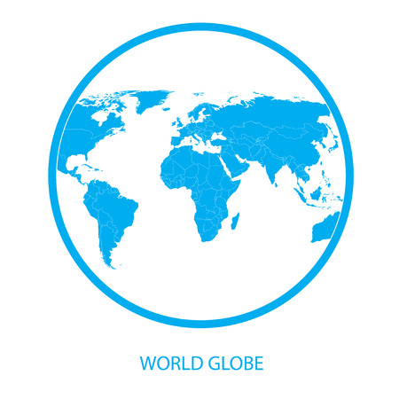 globus: Globe icon - world Map