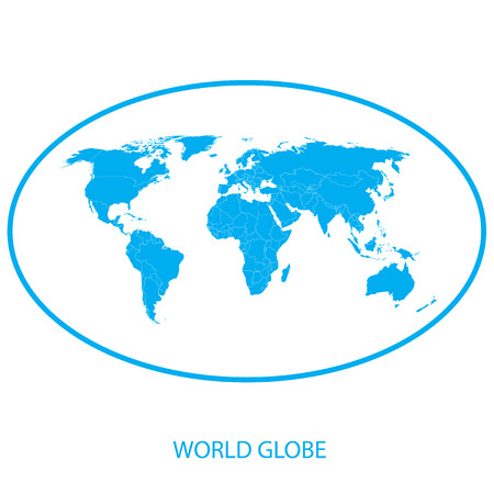 Globe pictogram - wereld Kaart