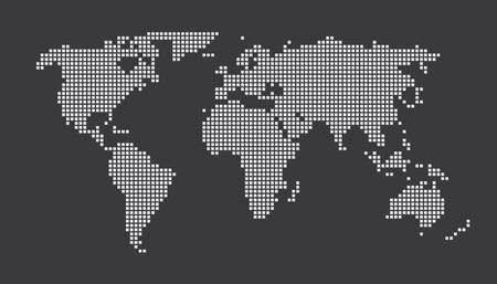 illustrated globe: World Map Concept Dots EPS 10 Illustration