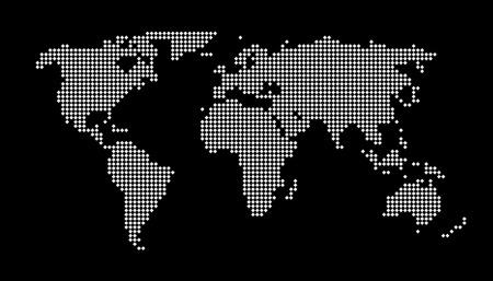 World Map Concept Dots EPS 10 Vettoriali