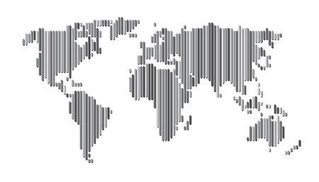 lineas verticales: Mapa del mundo líneas verticales Vectores