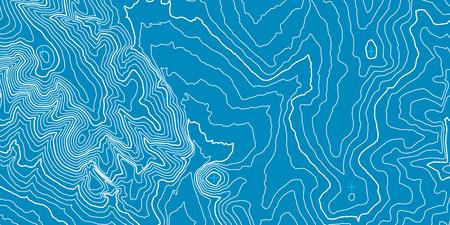 Topographic map background concept Ilustração