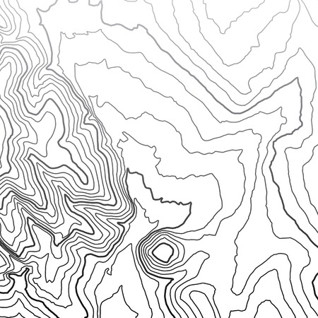multi layered effect: Topographic map background concept Illustration