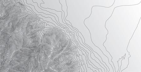 Topographic map background concept Stock Illustratie