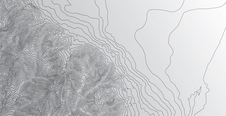 Topographic map background concept Ilustrace