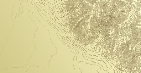 topographic: Topographic map background concept Illustration