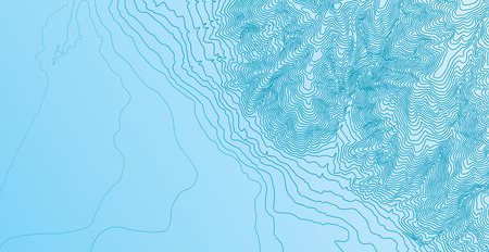 Topographic map background concept Vectores