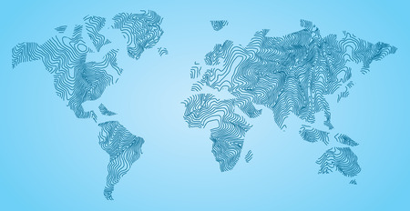 World Map Concept lines EPS 10