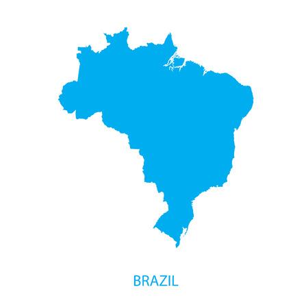 brazil map: Brazil Map Illustration