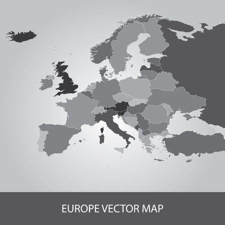 Carte de l'Europe Banque d'images - 39074449
