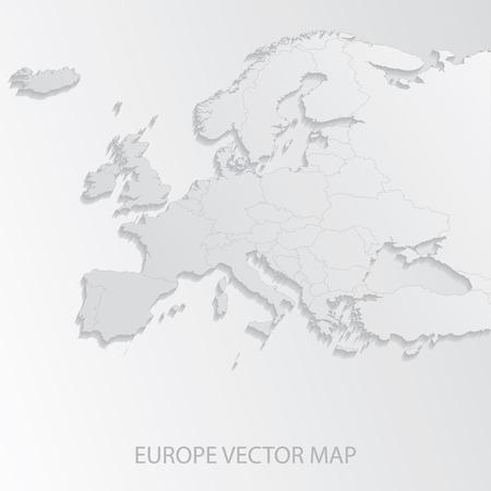 Mapa de Europa  Foto de archivo - 39074453