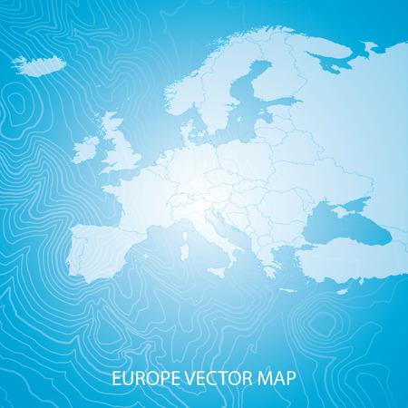 Mapa de Europa  Foto de archivo - 39074443
