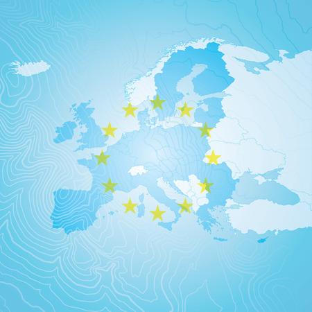 유럽지도 일러스트