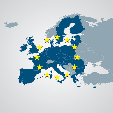 유럽: 유럽지도 일러스트
