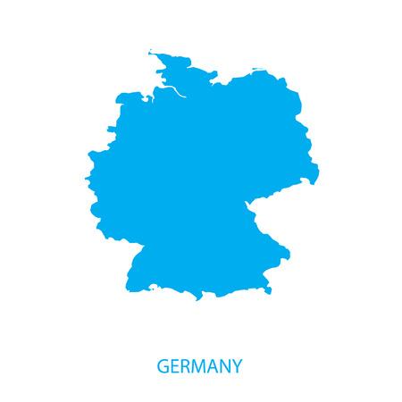 독일지도 일러스트