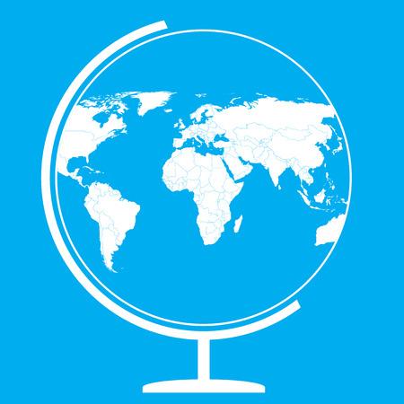 Earth globe  world map vector Illustration
