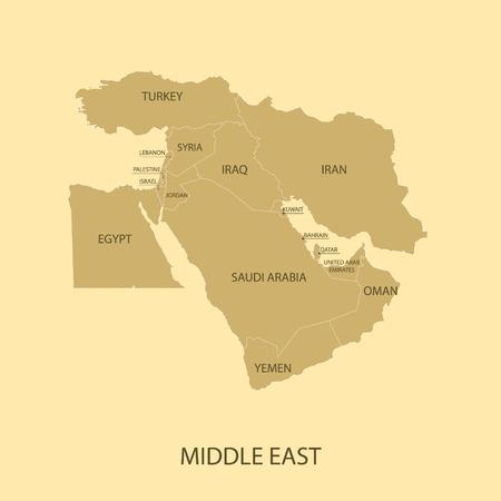 körfez: Orta Doğu Haritası