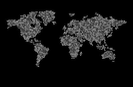 Carte du monde Dots Matrice