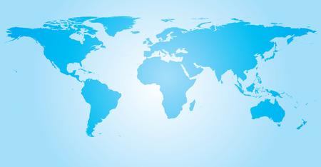 세계지도 파랑