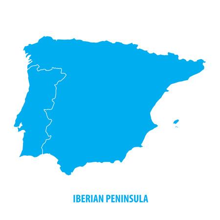 Iberisch schiereiland, Spanje en Portugal Stock Illustratie