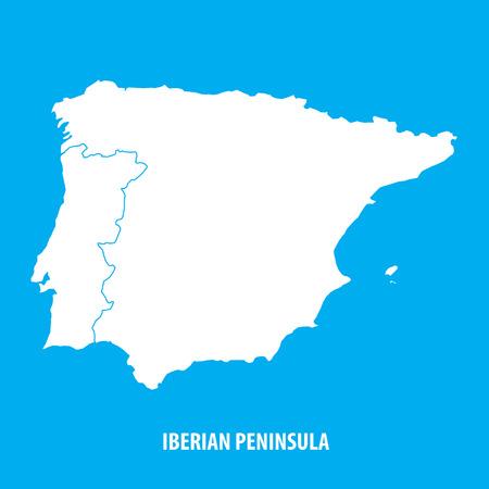 이베리아 반도, 스페인, 포르투갈 일러스트