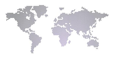 세계지도 육각
