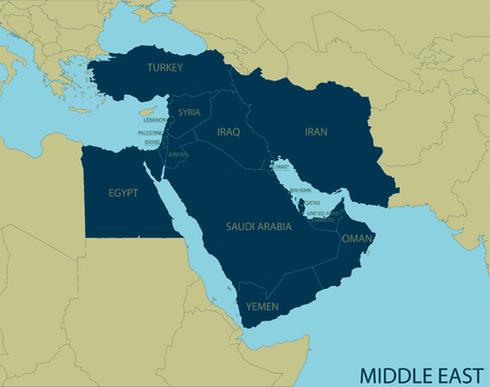 east: Middle East Map