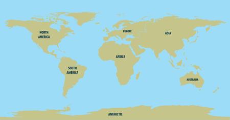 World Map Brown Illustration