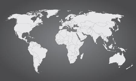 세계지도 회색