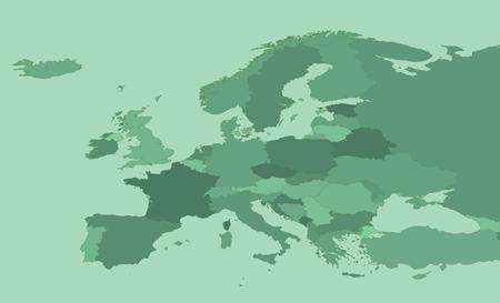 유럽 녹색지도 스톡 콘텐츠