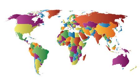 세계지도 국가 색상