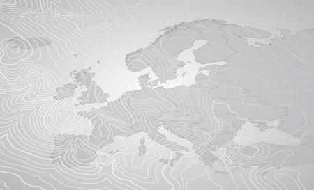 Europe Gray Map Standard-Bild