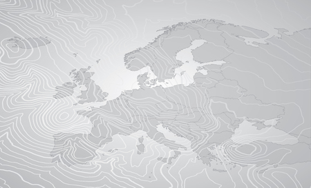 Europe Gray Map Banco de Imagens