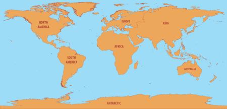 세계지도 단순 일러스트