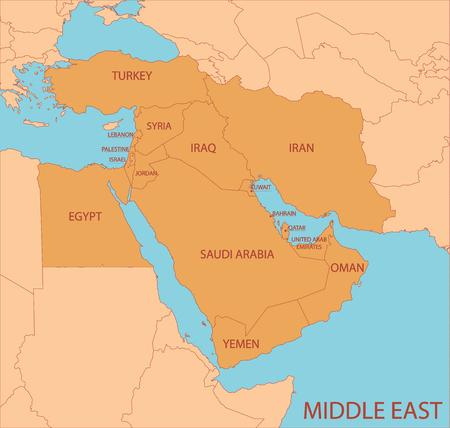 Midden-Oosten kaart