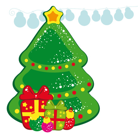 Christmas tree and presents Stock Vector - 6296905