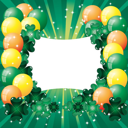 Background to the ball to the day of Saint Patrick  Vector