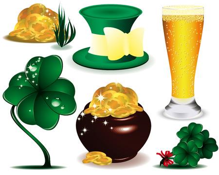 bobby pin: A set of St. Patricks Day