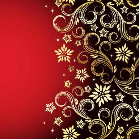 Holiday floral background  Vector