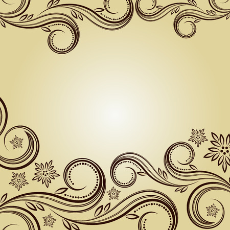 Vintage background with curled elements. Stock Vector - 6327032