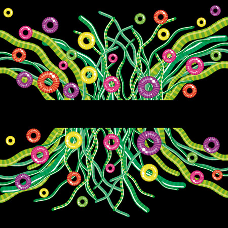 abstract floral background - fantastic grass Vector
