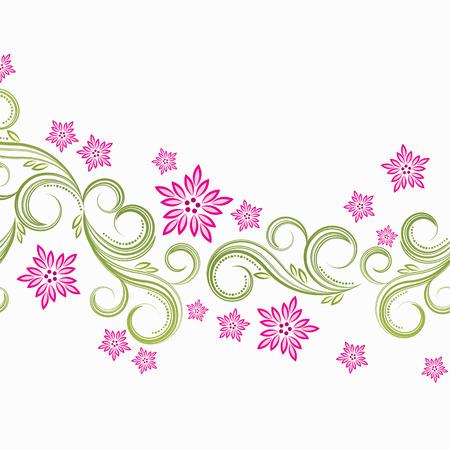Spring floral background  Illustration