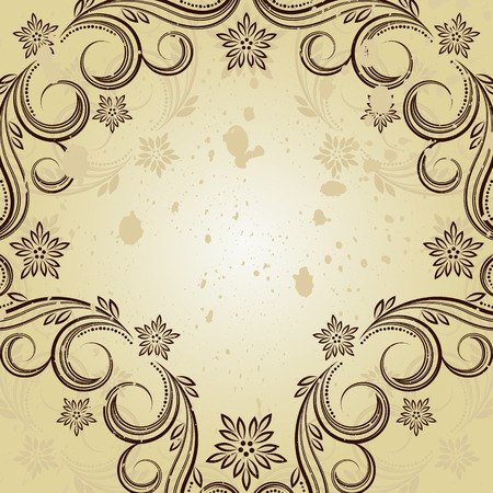 Vintage background with curled elements. Stock Vector - 6378579