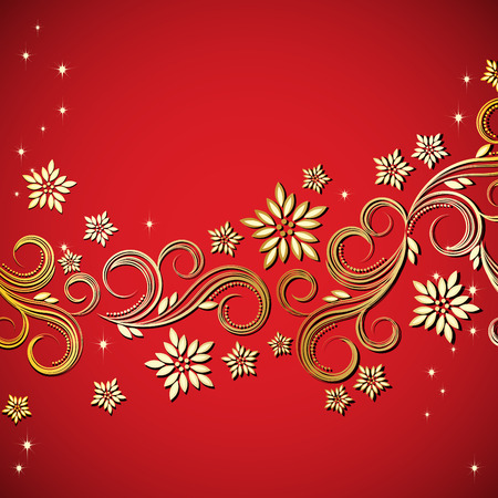Holiday floral background  Stock Vector - 6378583