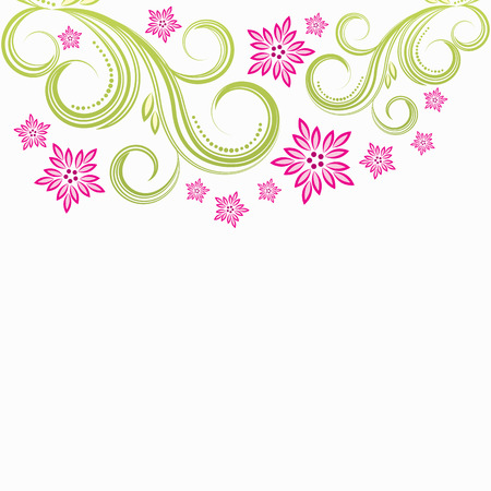 Spring floral background  Stock Vector - 6421116