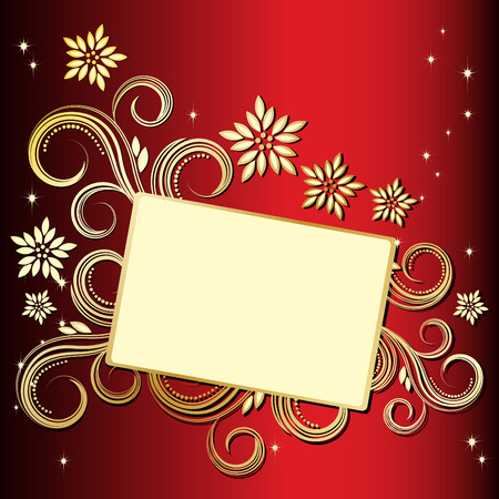 Holiday floral background Stock Vector - 6421117