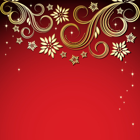 Holiday floral background Stock Vector - 6472702