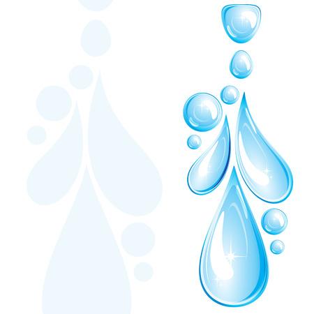 reflejo en el agua: Gotas de agua.